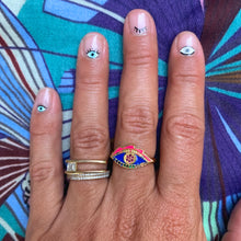 Load image into Gallery viewer, Evil Eye Enamel Ring