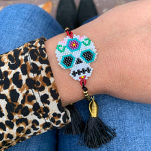 Load image into Gallery viewer, Sugar Skull Tassel Bracelet