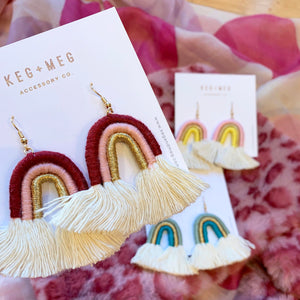 Woven Rainbow Earrings
