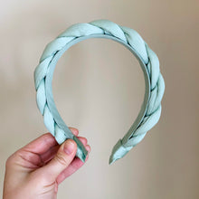 Load image into Gallery viewer, Seafoam Braided Headband