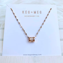Load image into Gallery viewer, Rose Gold Barrel Necklace
