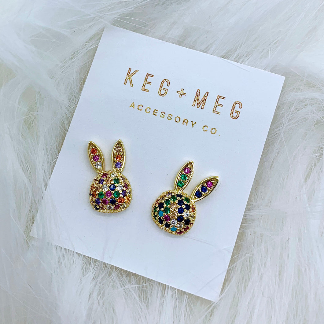 Rainbow Rabbit Earrings