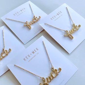 Gold F*ck Necklace