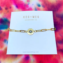 Load image into Gallery viewer, Chain Link Evil Eye Bracelet