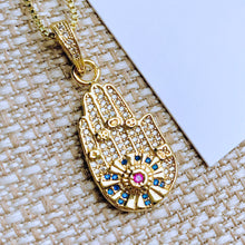 Load image into Gallery viewer, Hamsa Charm Necklace