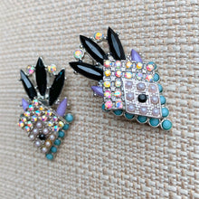 Load image into Gallery viewer, Deco Diamond Earrings