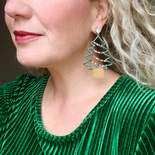 Load image into Gallery viewer, Oh Christmas Tree Earrings