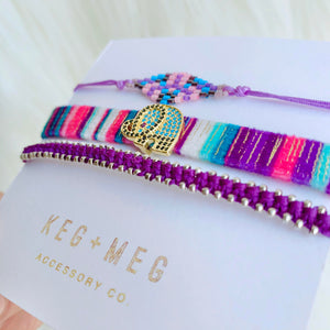 Lucky Purple Bracelet Trio