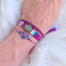 Load image into Gallery viewer, Lucky Purple Bracelet Trio