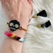Load image into Gallery viewer, Beaded Skull Bracelet