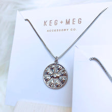 Load image into Gallery viewer, Silver Medallion Necklace