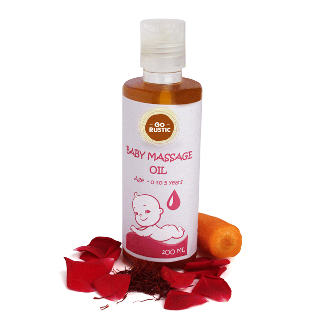 Baby Massage Oil with Saffron and Sandalwood