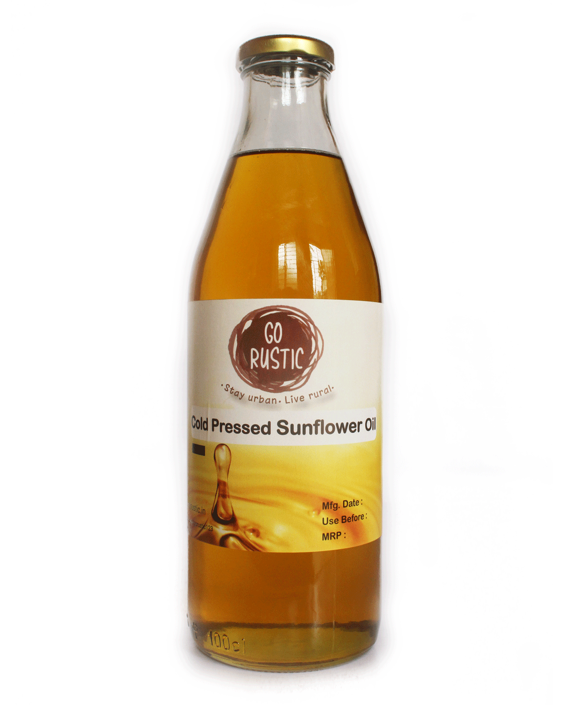 Organic Sunflower Oil - Cold pressed 1 ltr