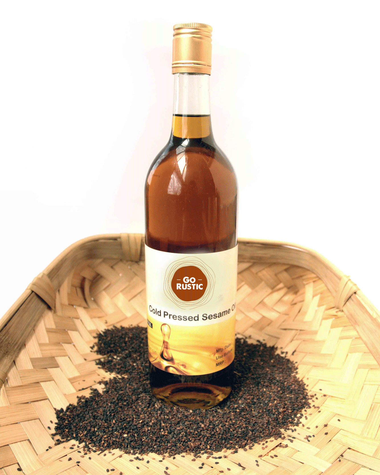 Cold Pressed Sesame Oil / Gingelly Oil  (From Black Sesame Seeds)