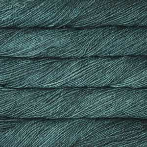 teal feather malabrigo