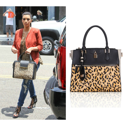 LYDC Leopard Print Tote at Bag Envy