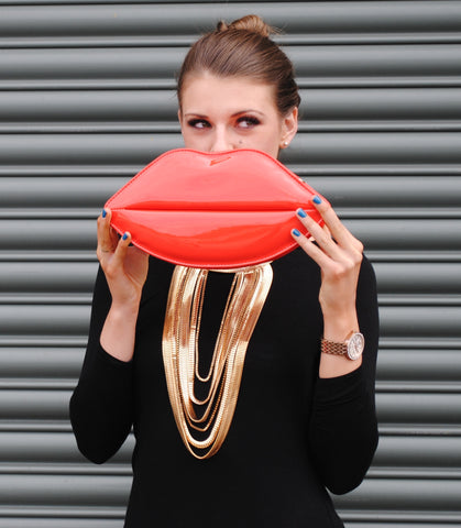 Red Lips Clutch Bag