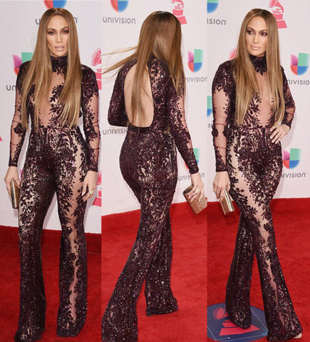 JLO red carpet Look Latin Grammys