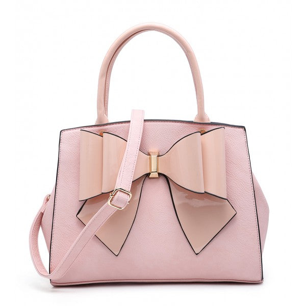 665dad2772b Bow Chic Nude Pink Grab Tote Bag