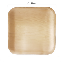 "Load image into Gallery viewer, 25 x 25 cm (10"") Flat Square Plates, 25 pack - Greenovation - Eco Dinnerware"