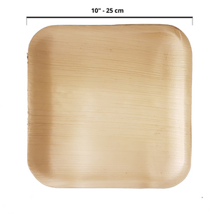 "25 x 25 cm (10"") Flat Square Plates, 25 pack - Greenovation - Eco Dinnerware"