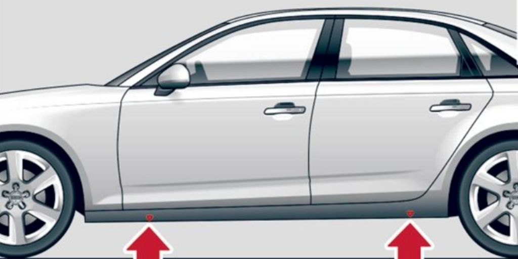 2020 Audi A4 sill panel markings