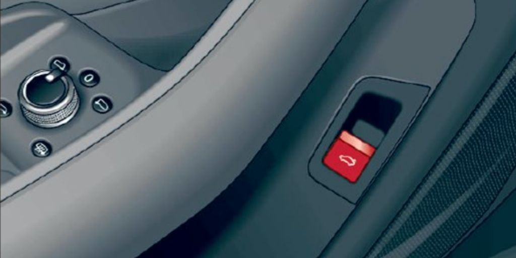 2020 Audi A4 trunk release switch