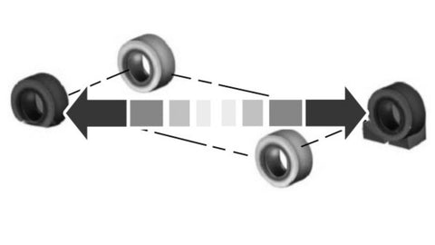 Flat tire procedure Ford F-150, wheel chokes to be placed on the diagonally opposite wheel from the flat tire.