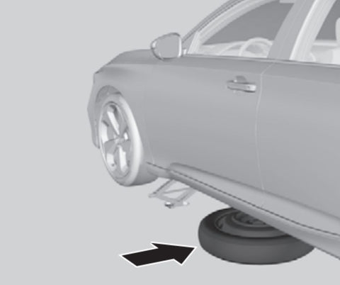 Honda Accord Flat Tire - place the spare tire under car near the wheel with the flat tire