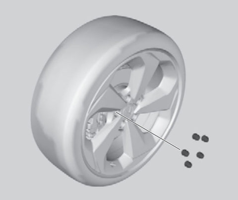 Honda Accord flat tire: remove the nuts and the flat tire.
