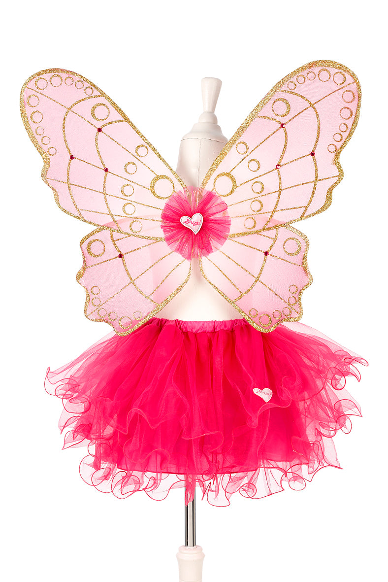 Babette skirt + wings, fuchsia, adjustable