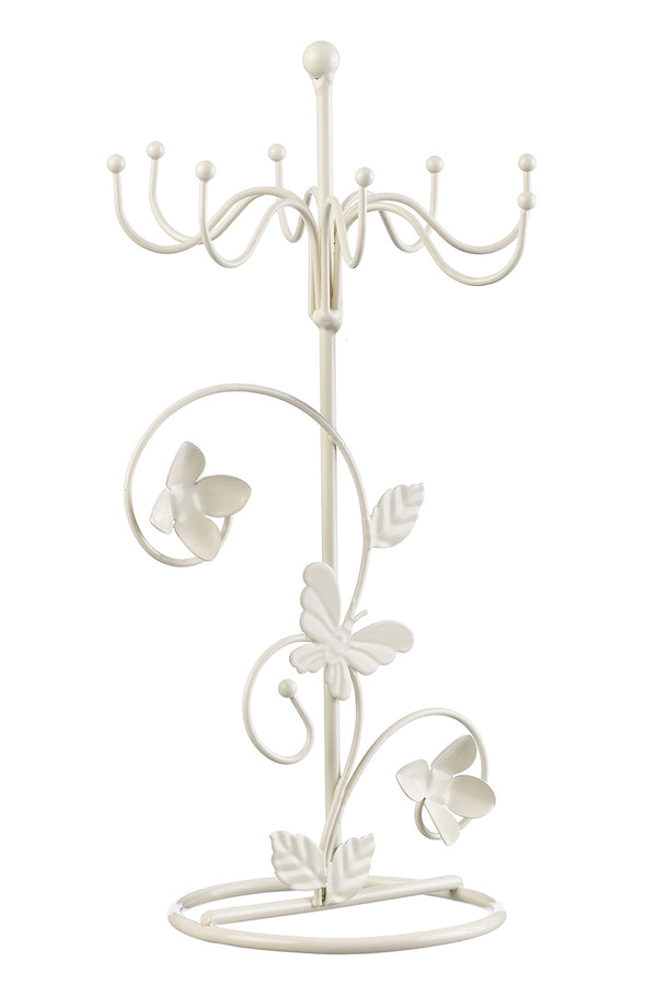 Metal stand for jewellery, off white
