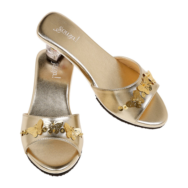 Slipper high heel Marion, gold metallic