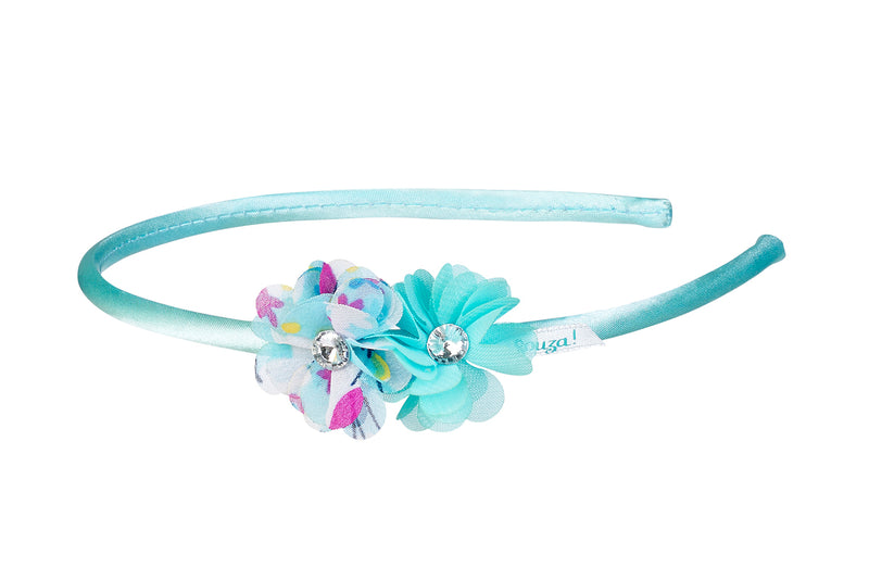 Tiara Carena, 2 flowers with print, mint