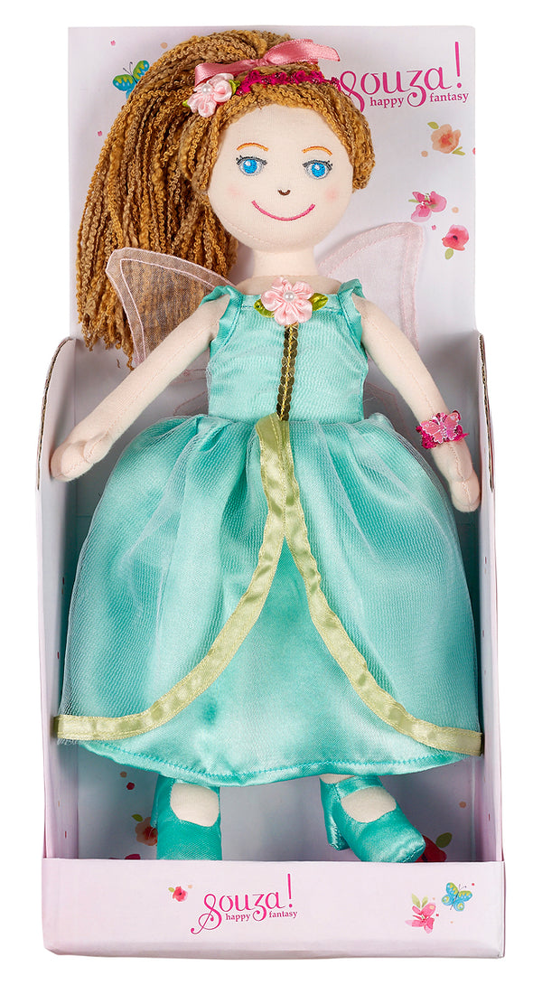 Doll Marilena with dress mint green
