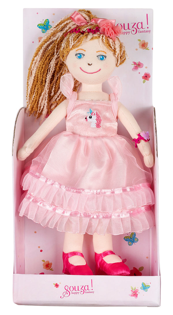 Doll Charline with dress light pink