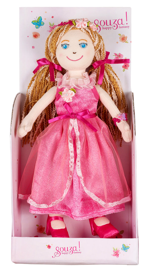 Doll Marie-Elise with dress pink