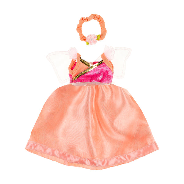 Doll costume Yoline dress & hairband, salmon