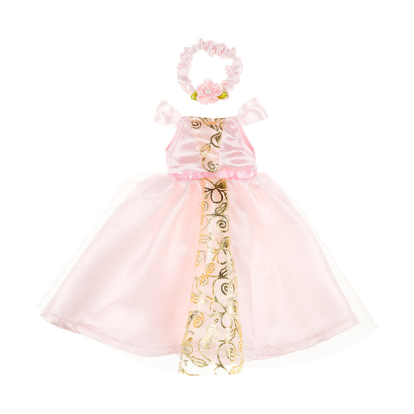 Doll costume Ameline dress & hairband, light pink