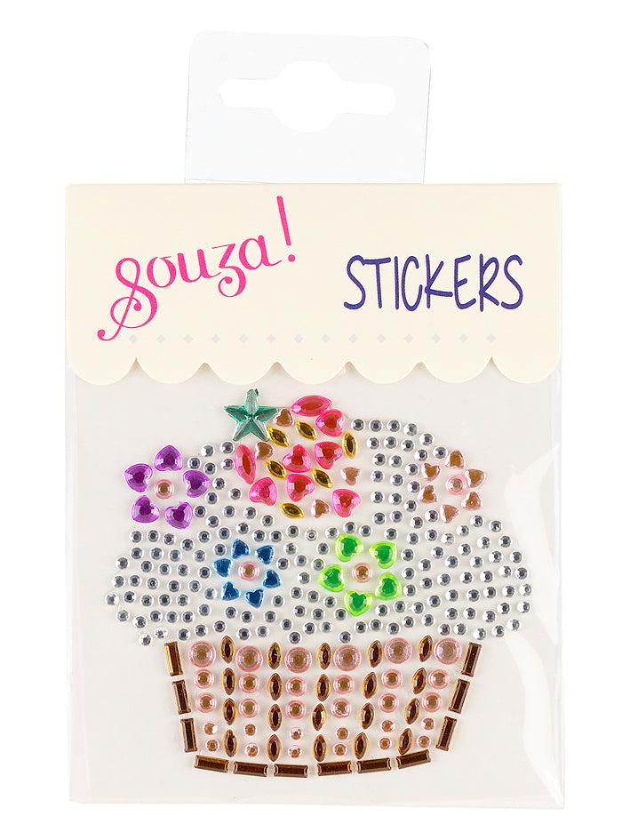 Fun sticker cupcake