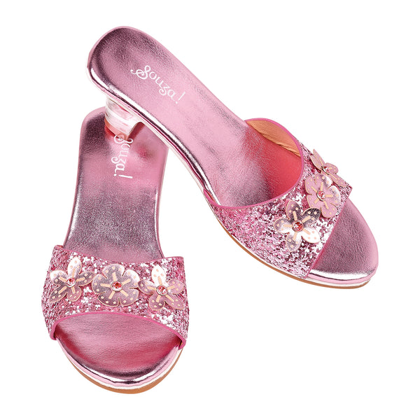 Slipper high heel Mariona, pink metallic