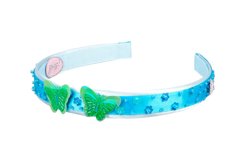 Hair band Alana, butterfly blue