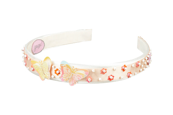 Hair band Alana, butterfly, off white