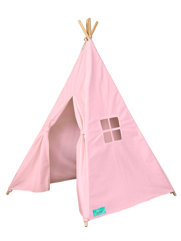 Tipi tent pink canvas