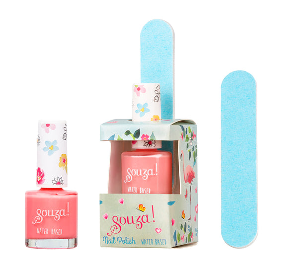 Nail polish flamingo + veil in giftbox