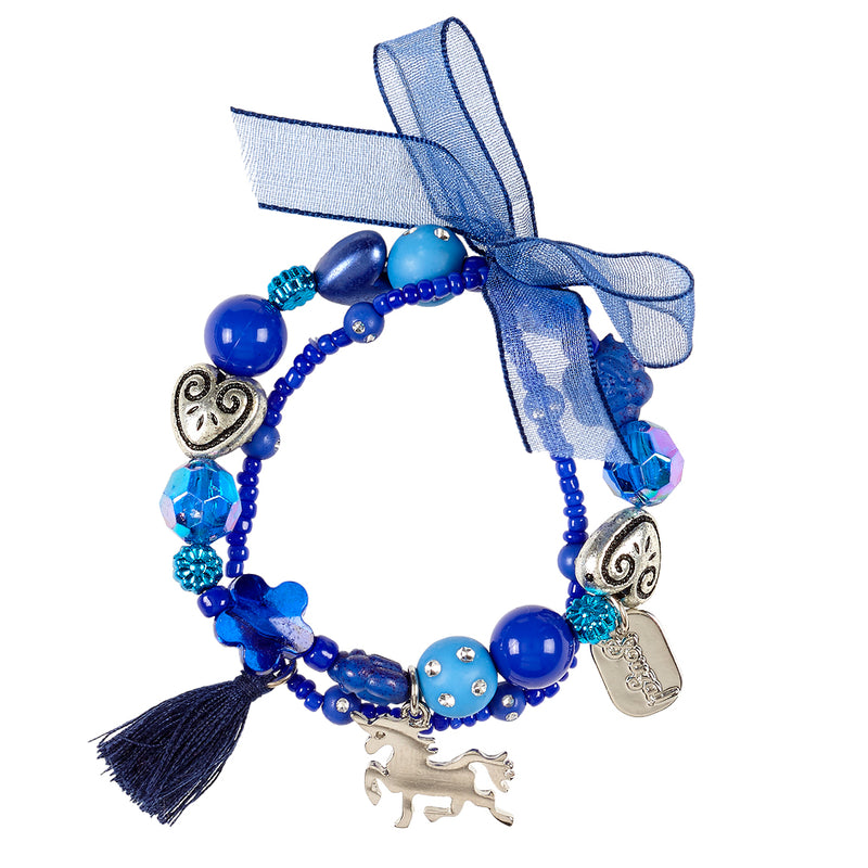 Bracelet Trish unicorn, blue