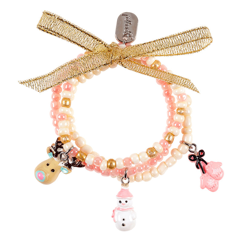 Bracelet Paulina, Winter with charms, multi colour (3 pcs/card)