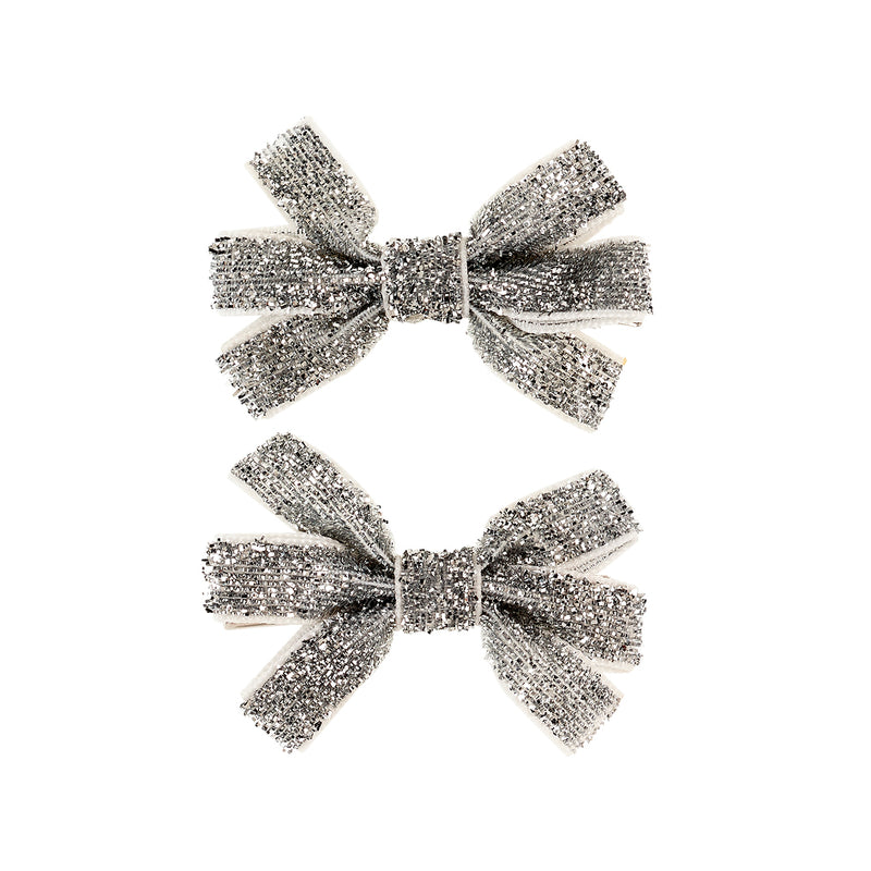Hair clips Brit silver (2 pcs/card)