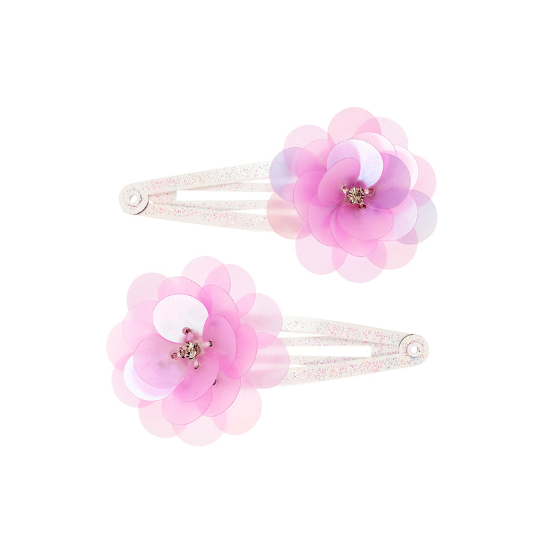 Hair clips Anabell flower (2 pcs/card)