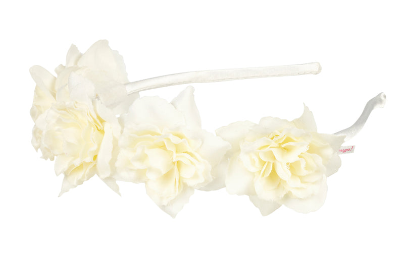 Tiara Lieke, off white flowers